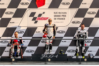 Podio 1000cc: il secondo classificato Emiliano Malagoli, il vincitore Daniele Barbero, il terzo classificato Peter Rohr (AUT)