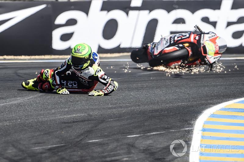 Eric Granado, Forward Racing, caduta