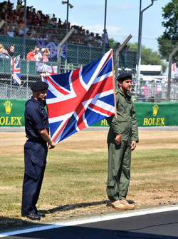Union flag on the grid