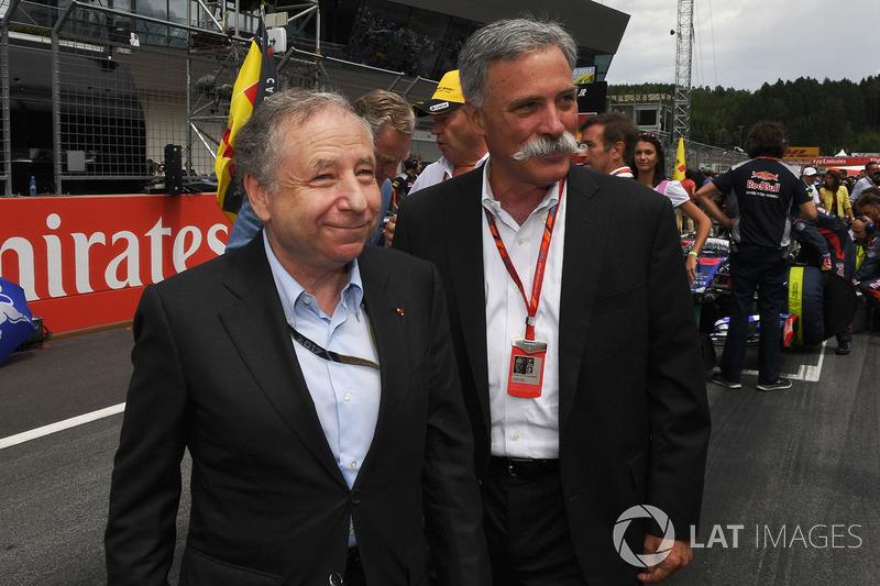 Jean Todt, presidente de FIA, Chase Carey, Fórmula 1