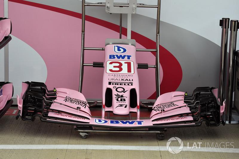 Force India VJM10: Nase und Frontflügel