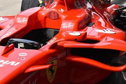Espejo en el SF70H del Ferrari de Kimi Raikkonen