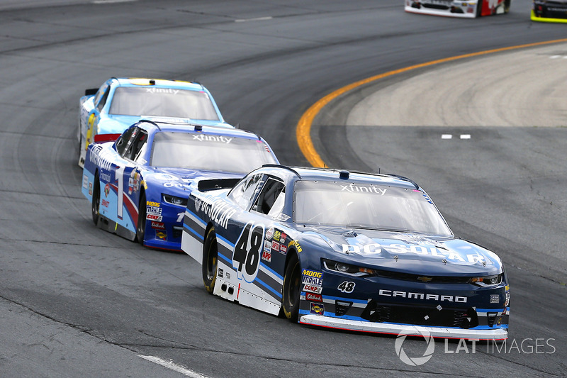 Brennan Poole, Chip Ganassi Racing Chevrolet, Elliott Sadler, JR Motorsports Chevrolet