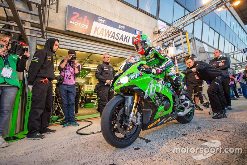 #11 Kawasaki: Morgan Berchet, Randy de Puniet, Mathieu Gines, Fabian Foret