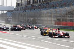 Start: Charles Leclerc, PREMA Racing leads