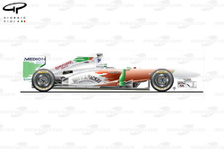 Force India VJM04 side view
