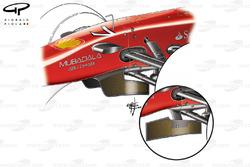 Ferrari F10 turning vanes