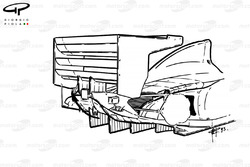 Williams FW15C 1993 rear wing and diffusor view