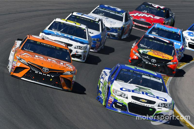 Daniel Suarez, Joe Gibbs Racing, Toyota; Ty Dillon, Germain Racing, Chevrolet
