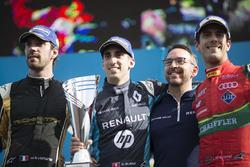 Podium: Race winner Sébastien Buemi, Renault e.Dams, second place Jean-Eric Vergne, Techeetah; third place Lucas di Grassi, ABT Schaeffler Audi Sport