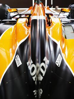Le capot moteur de Stoffel Vandoorne, McLaren