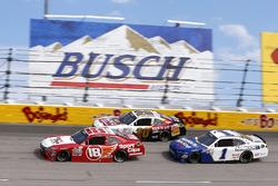 Denny Hamlin, Joe Gibbs Racing Toyota, Erik Jones, Joe Gibbs Racing Toyota, Elliott Sadler, JR Motorsports Chevrolet