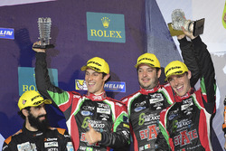 LMP2 Podium: second place #43 RGR Sport by Morand Ligier JSP2 - Nissan: Ricardo Gonzalez, Filipe Albuquerque, Bruno Senna