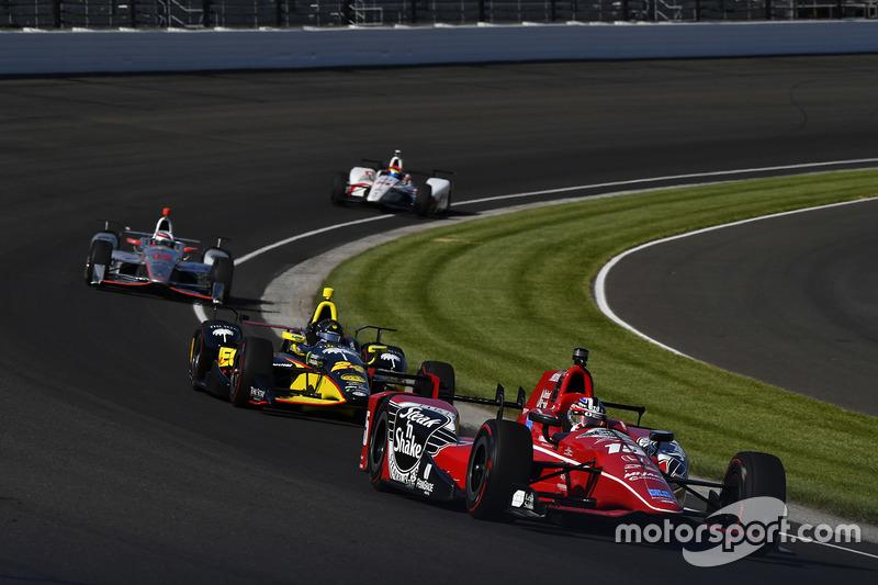Graham Rahal, Rahal Letterman Lanigan Racing Honda, Sage Karam, Dreyer & Reinbold Racing Chevrolet, Will Power, Team Penske Chevrolet