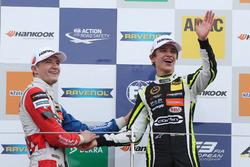 Podium: Race winner Lando Norris, Carlin, Dallara F317 - Volkswagen, second place Jake Dennis, Carlin, Dallara F317 - Volkswagen