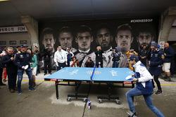 Felipe Massa, Williams; Daniel Ricciardo, Red Bull Racing; Max Verstappen, Red Bull Racing