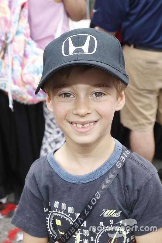 Alex Bourdais entusiasta de Honda, hijo del ganador de la carrera, Sébastien Bourdais, Dale Coyne Racing Honda