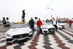 Paul Di Resta, Mercedes-AMG Team HWA, Mercedes-AMG C63 DTM, Loic Duval, Audi Sport Team Phoenix, Audi RS 5 DTM, Maxime Martin, BMW Team RBM, BMW M4 DTM with the safety cars