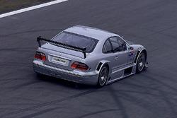 Bernd Schneider und Klaus Ludwig, testet den Mercedes CLK, HWA AG