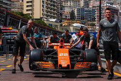 The car of Jenson Button, McLaren MCL32