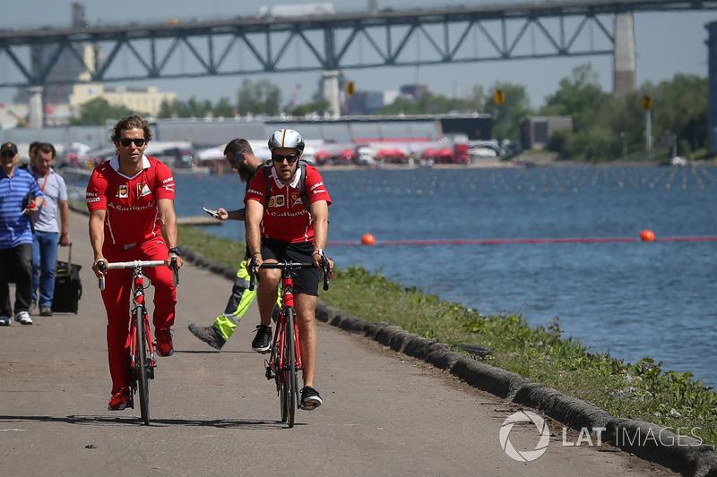 Себастьян Феттель, Ferrari, тренер Контсас на велосипеді