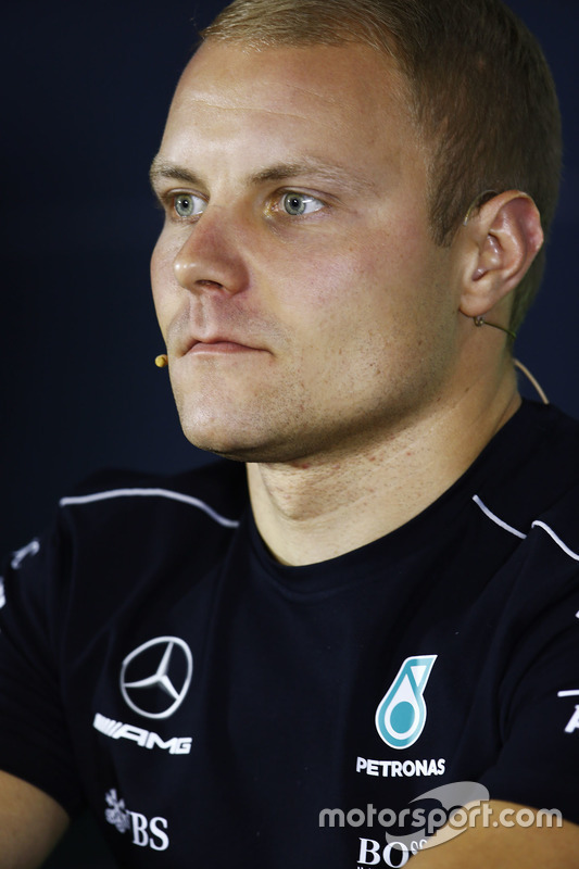 Valtteri Bottas, Mercedes AMG F1, in the Thursday press conference