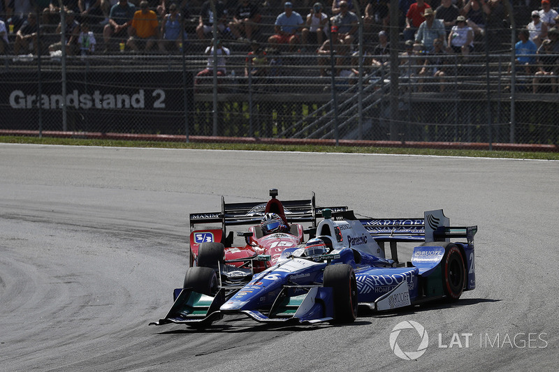 Graham Rahal, Rahal Letterman Lanigan Racing Honda Takuma Sato, Andretti Autosport Honda choque