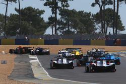 Départ : #3 DKR Engineering Norma M30 - Nissan: Jean Glorieux, Alexander Toril mène