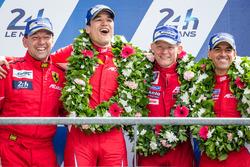 LMGT Am podium: second place #83 AF CorseFerrari 458 Italia: François Perrodo, Emmanuel Collard, Rui Aguas