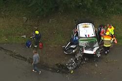 Ongeluk: Stéphane Lefebvre, Gabin Moreau, Citroën DS3 WRC, Citroën World Rally Team (Screenshot)