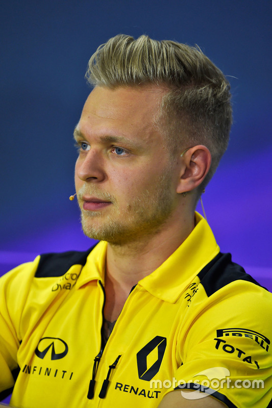 Kevin Magnussen, Renault Sport F1 Team lors de la conférence de presse