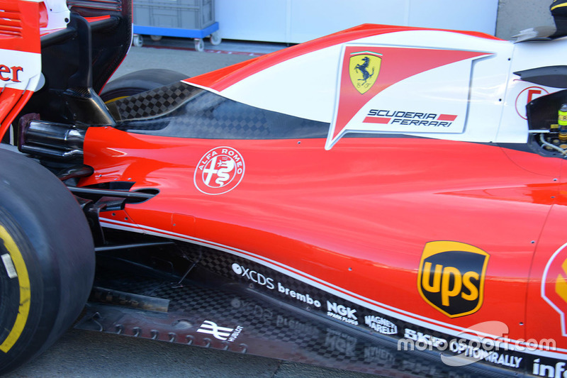 Ferrari SF16-H side detail