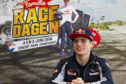 Max Verstappen tijdens perspresentatie 'Familie Racedagen, driven by Max Verstappen'