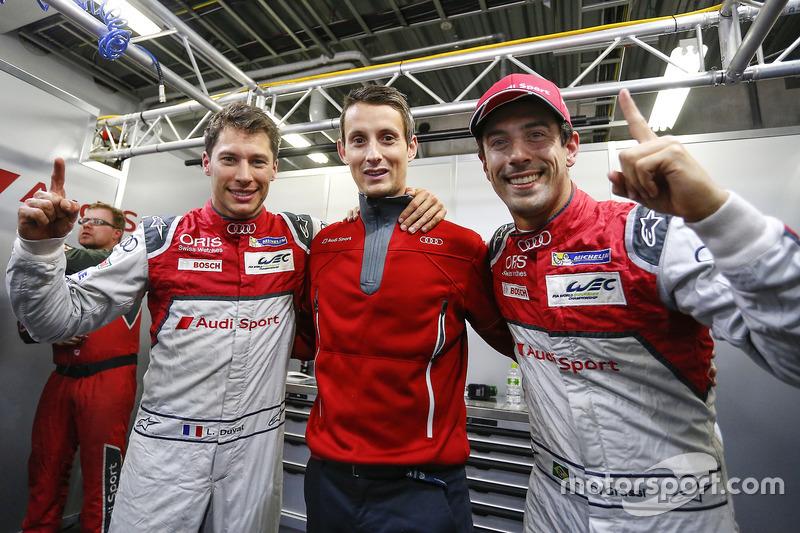 Loïc Duval, Oliver Jarvis, Lucas di Grassi, Audi Sport Team Joest