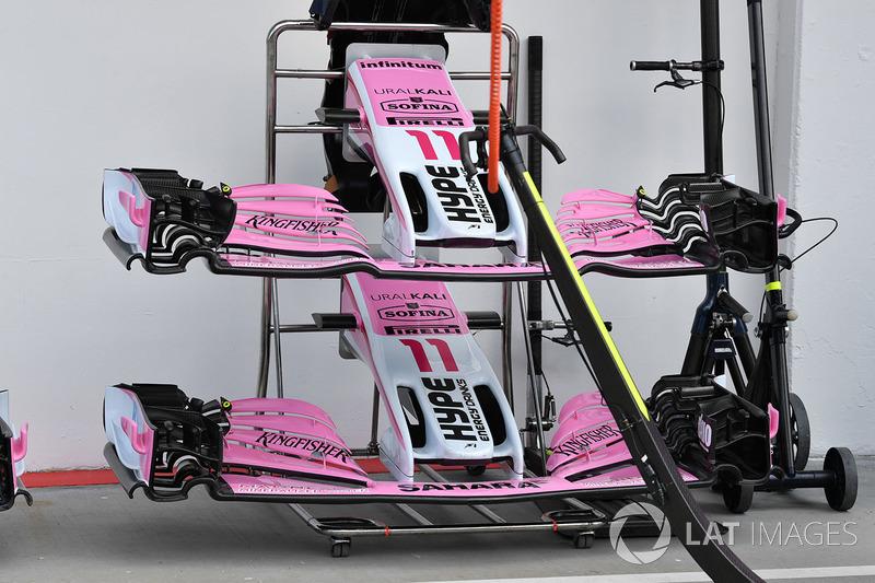El morro y alerones delanteros del Force India VJM11
