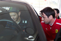 Valentino Rossi is testing the Ferrari 488 Pista