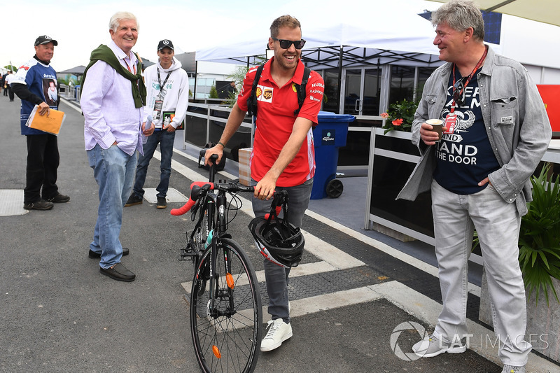 Sebastian Vettel, Ferrari and bike