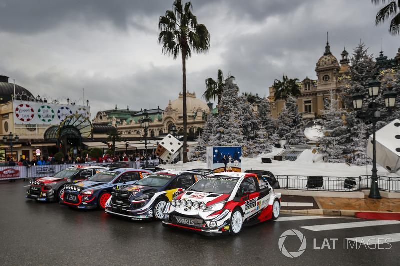 2018 WRC araçları grup fotoğrafı