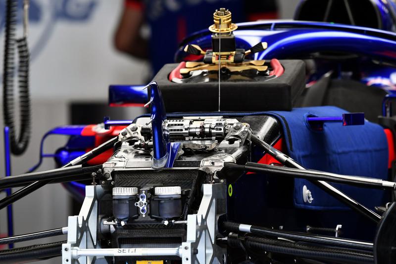 Scuderia Toro Rosso STR13 front suspension detail