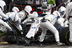 Lance Stroll, Williams FW41, pitstop