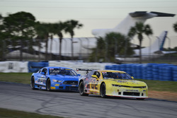 #02 TA2 Chevrolet Camaro, John Atwell of Atwell Racing, #23 TA2 Ford Mustang, Curt Voght of Cobra Automotive