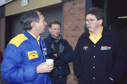 Rory Byrne con Ross Brawn, Benetton