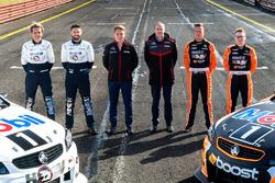 Warren Luff, Walkinshaw Racing, Alex Davison, Lucas Dumbrell Motorsport Holden, Ryan Walkinshaw, James Courtney, Walkinshaw Racing, Jack Perkins, Walkinshaw Racing