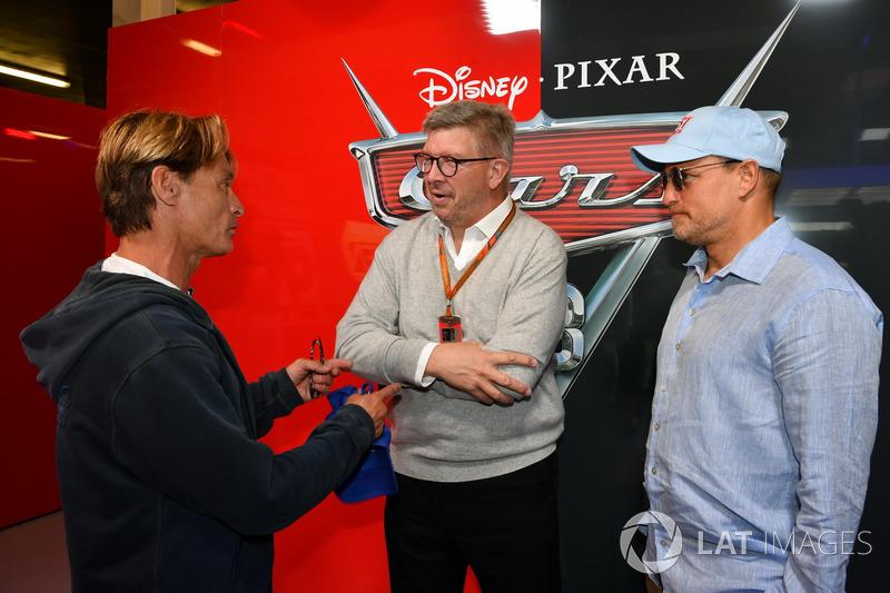 Ross Brawn, Formel-1-Motorsportchef, Woody Harrelson, Schauspieler