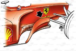 Ferrari F2001 (652) 2001 French bargeboard development
