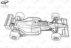 Схема Tyrrell 019 1990 года