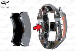 Brembo brake caliper and pads