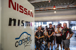Nissan Motorsports garage atmosphere
