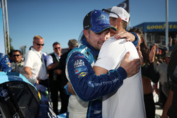 Race winner Ricky Stenhouse Jr., Roush Fenway Racing Ford, Trevor Bayne, Roush Fenway Racing Ford
