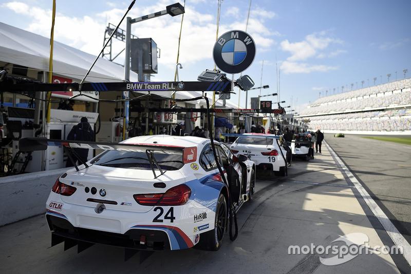 #24 BMW Team RLL BMW M6 GTLM: John Edwards, Martin Tomczyk, Nicky Catsburg, Kuno Wittmer, #19 BMW Team RLL BMW M6 GTLM: Bill Auberlen, Alexander Sims, Augusto Farfus, Bruno Spengler